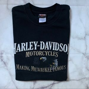 Oversized Milwaukee Harley Davidson T-Shirt